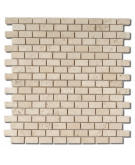 Mosaique D travertin small brique classic 1.5x3cm sur trame 30,5x30,5x1cm