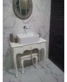 Carrelage hexagone tomette imitation marbre satiné 28.5x33cm, realzairecarrara