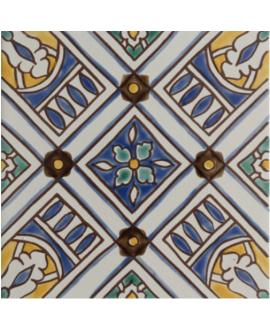 Carrelage décoré émaillé à la main D nora 20x20cm