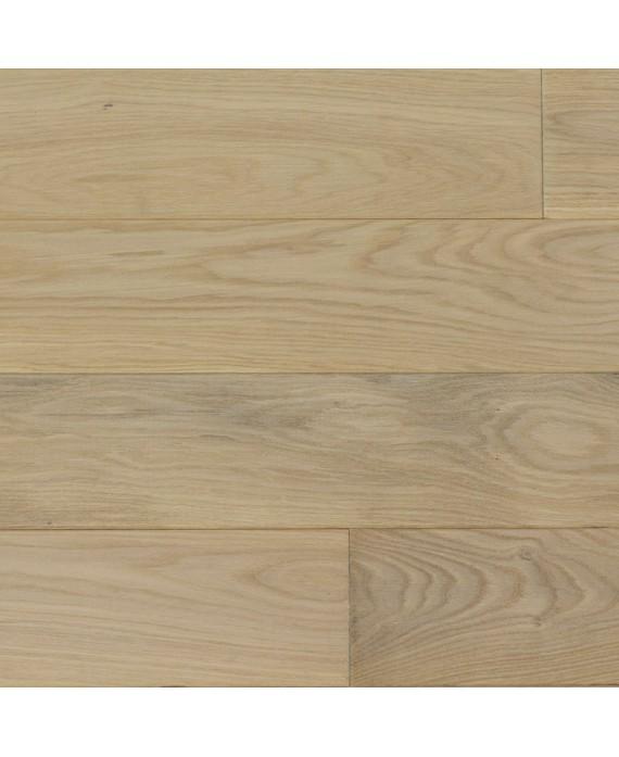 Plancher chêne massif blanchi huilé , parquet traité, largeur 120 mm, vienna L white