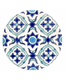 Disque rond émaillé diamètre 19.4cm  épaisseur 10mm, D maya