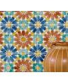 Carrelage peint à la main décor email craquelé 20x20x1.1cm D marbella rouille
