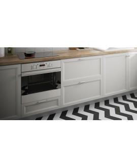 Carrelage chevron, à pans coupés, Equichevron SOL Right blanc et noir mat 9x20.5cm