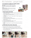Kit d'entretien parquet huilé naturel