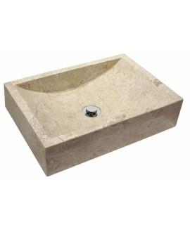 Vasque en pierre MO nerja beige 50x35x12cm