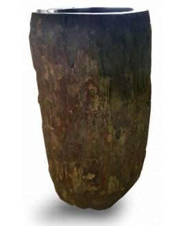 Vasque en pierre sur pied MO cuzco 40x70x90cm