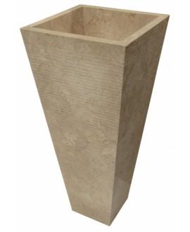 Vasque en pierre sur pied MO durcal beige 40x40x90cm