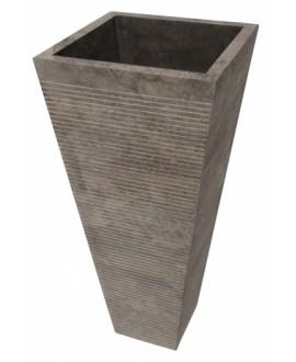 Vasque en pierre sur pied MO durcal noire 40x40x90cm