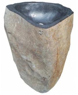 Vasque en pierre sur pied MO menhir 40x70x90cm