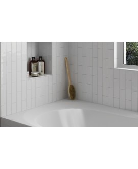Carrelage salle de bain rectangulaire contemporain blanc mat equipcountry