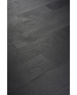 Parquet chêne français massif, brossé noir huilé, ép : 10mm , Hrég