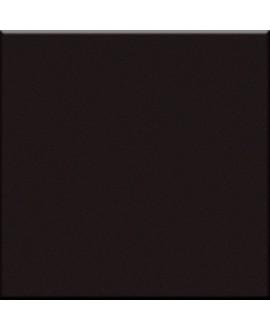 Cabochon E noir mat 5x5cm vendu à l'unité