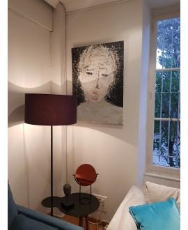 Peinture contemporaine acrylique sur toile 100x73cm intitulée: enfant qui crie