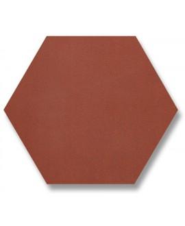Carrelage en terre cuite rouge mécanique  hexagonal 15x15cm, coté 8.5cm, épaisseur 9mm