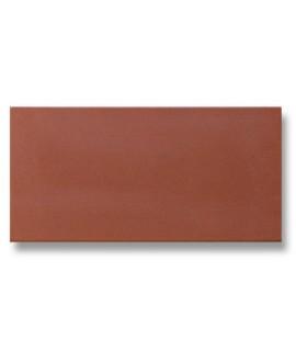 Carrelage en terre cuite rouge mécanique rectangulaire 7.5x15cm, épaisseur 9mm