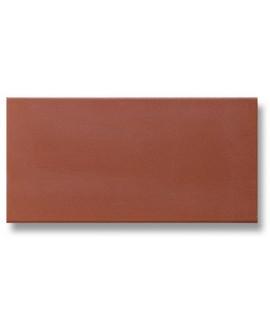 Carrelage en terre cuite rouge mécanique rectangulaire 10x20cm, épaisseur 9mm