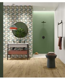 Carrelage moderne vert 25x75x1cm rectifié santaspring
