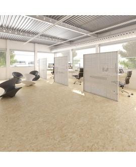 Carrelage imitation panneaux de bois aggloméré naturel mat, sol et mur 59.3x59.3cm rectifié, R10, V strand naturel