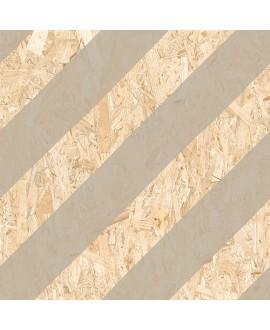 Carrelage imitation bois aggloméré strié taupe mat, décor, 59.3x59.3cm rectifié, R10, V strand nenets naturel cimento