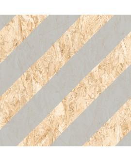 Carrelage imitation bois aggloméré strié de gris mat, décor, 59.3x59.3cm rectifié, R10, V strand nenets naturel gris
