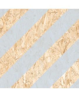 Carrelage sol et mur, effet bois aggloméré strié de bleu, décor, 59.3x59.3cm rectifié, R10, V strand nenets naturel bleu