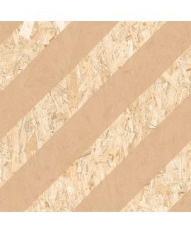 Carrelage imitation bois aggloméré strié de beige, sol et mur, 59.3x59.3cm rectifié, R10, V strand nenets naturel avellana