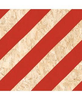 Carrelage imitation bois aggloméré ciment mat, décor, 59.3x59.3cm rectifié, R10, V strand nenets naturel rouge
