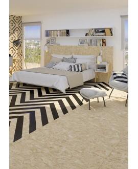 Carrelage effet bois aggloméré mat strié de bandes noires , décor, 59.3x59.3cm rectifié, R10, V strand nenets naturel noir