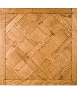 parquet chêne français massif versailles , vieilli doré antique , ép : 14 mm , 80cmx80cm