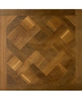 Plancher ancien vieilli chêne massif français versailles , vieux de france huilé , ép : 21 mm , 98cm x 98cm