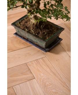 parquet chêne massif français , brossé aktiss huilé , premier choix, épaisseur 14 mm, largeur 150 mm