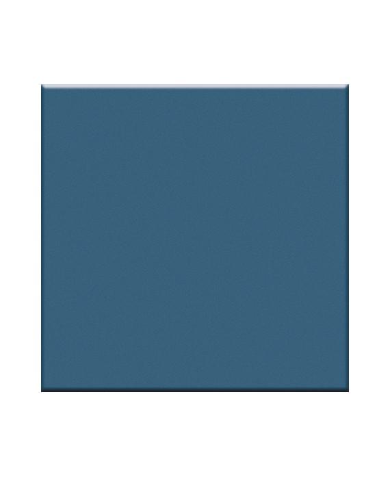 Mosaique en grès cérame mat de couleur bleu VO ceruleo  5X5 cm sur trame
