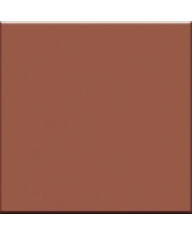 Mosaique en grès cérame mat de couleur VO mattone 5X5cm sur trame