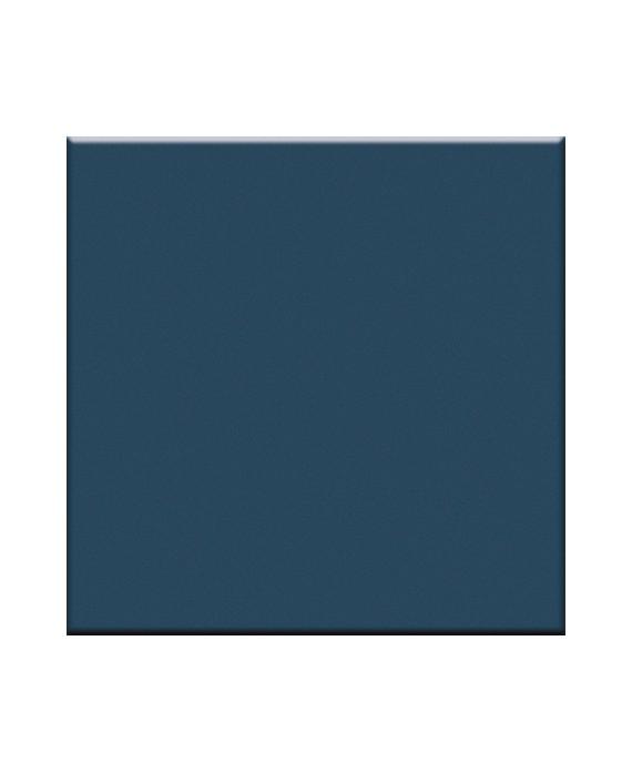Mosaique en grès cérame mat bleu petrole 5X5cm sur trame VO