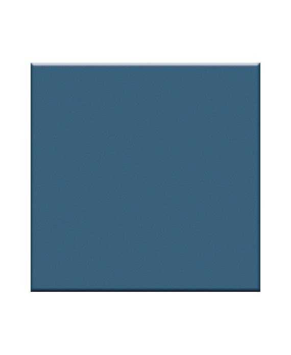Mosaique brillant bleu céruléen mur et sol salle de bain cuisine 5X5cm VO ceruléo