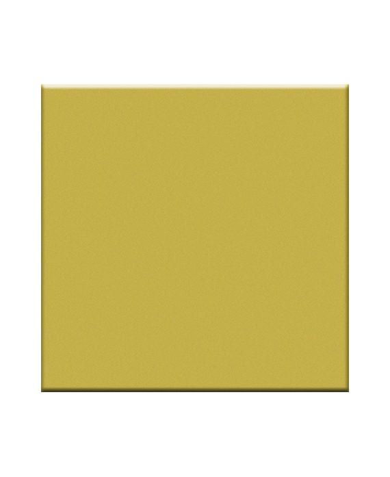 Mosaique en grès cérame brillant jaune senape 5X5cm sur trame VO